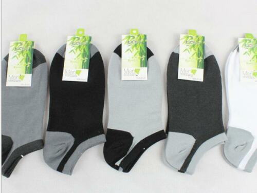 20 Pairs Fashion Men/'s Casual 100/% Bamboo Fiber Socks No Show Ankle Low Cut4-6