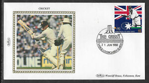 AUSTRALIA-CRICKET-ASHES-1988-1-WG-GRACE-ALLAN-BORDER-PHOTO-Benham-Silk-FDC