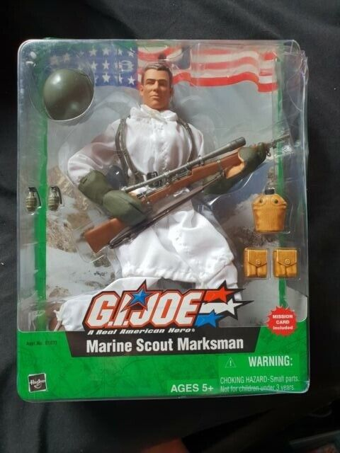 G.I. JOE MARINE SCOUT MARKSMAN Hasbro Figure 2004