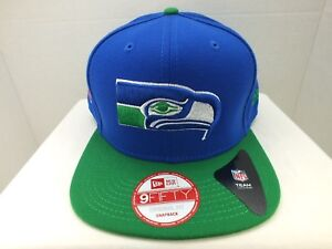54b9f14a SEATTLE Seahawks Hat Cap Retro SNAPBACK NEW ERA 9FIFTY MENS NFL ...