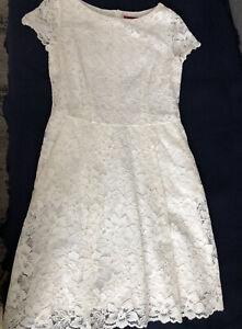 Luxus Kleid Hugo Boss Gr M 40 Weiss Spitze Wie Neu Sommer Blog Jades Taschen Ebay