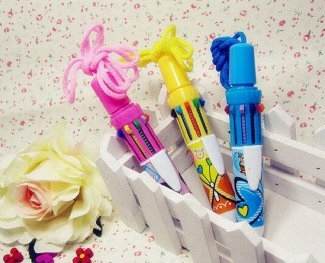 CEAU Multicolour Pen 10 Colour Retractable Ballpoint Pen Writing Stationery Gift