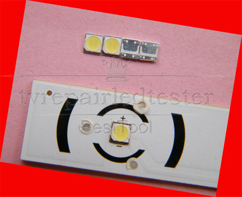 100Pcs 3535 SMD Lamp Beads 6V Specially for LG LED Backlight Strip, Repair TV
