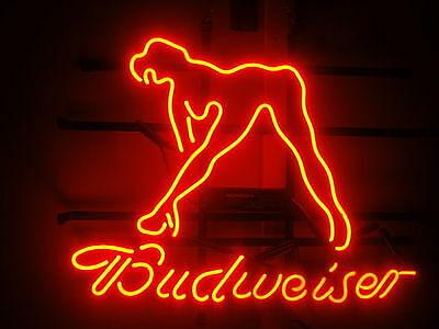 "Budweiser Live Nudes Girl Neon Sign Light Lamp 17/""x14/""  Artwork Decor Bedroom"