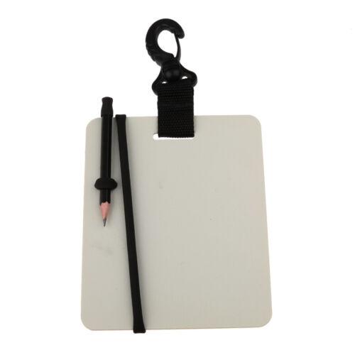 Swivel Karabiner Unterwasser Schreiben Tauchen Schreibtafel mit Bleistift