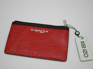 Glossy Bubble Kenzo Leather Black Pochette Small Trim Bnwt Red TqSxwWt5f