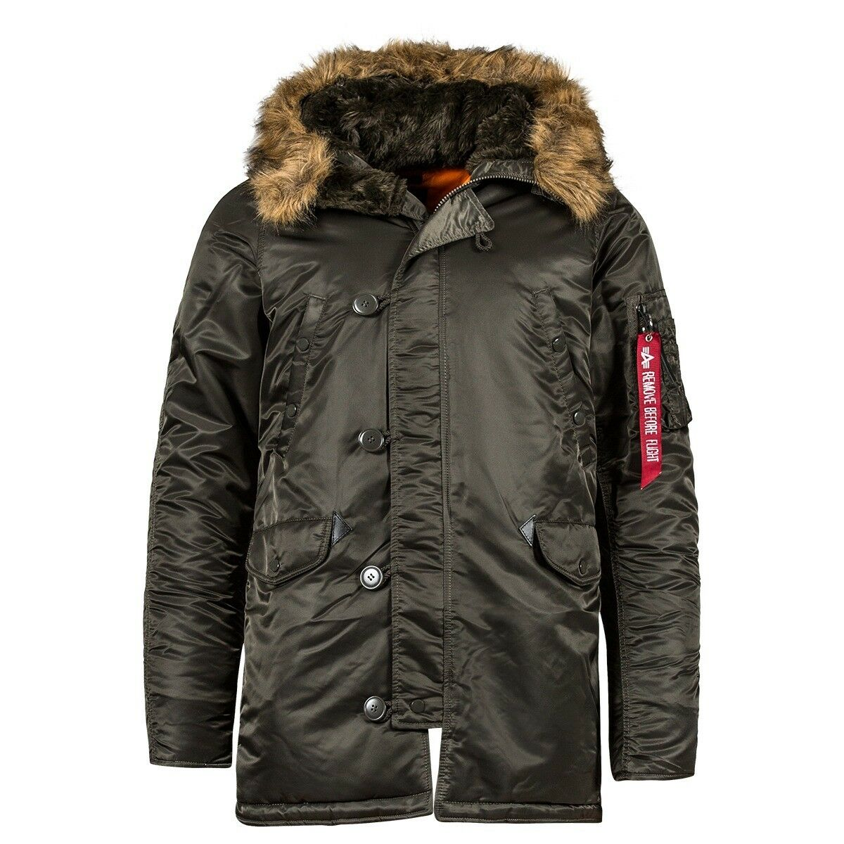 aab2aba5a5f0 ... Alpha Industries Slim Fit N-3B Parka Coat Nylon N3B Coat MJN31210C1  a87ac4 ...