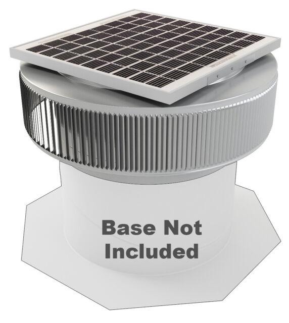 Aura Vent Solar Fan Retrofit 14 Inch Exhaust Roof Attic Ventilator 15w