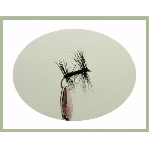 pêche à la mouche choix de tailles 6 nouées Midge Dry Fishing Flies Midge Dry Fly