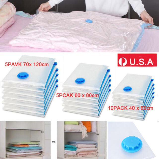 Set of 20 Vacuum Storage Bags Compressed Saving Space Seal Bags 3 Size Available