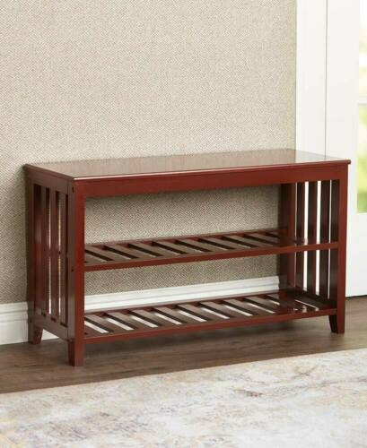 Entryway Mudroom Wall Shelf Hat Coat Rack Hall Mail Shoe Storage Bench Seat