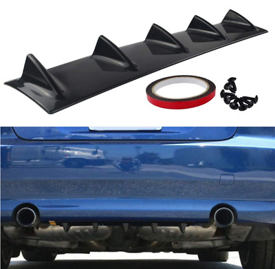 YOUNICER Diffusore paraurti posteriore paraurti auto spoiler paraurti posteriore diffusore paraurti posteriore kit pinna di squalo PU spoiler