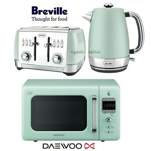 Image Is Loading Daewoo Retro Microwave Amp Breville Strata Kettle And