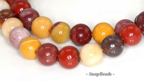 6MM DECADENCE MOOKIATE GEMSTONE GRADE A RED YELLOW ROUND 6MM LOOSE BEADS 15.5/""