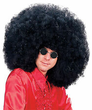 XL adulto NERO PARRUCCA AFRO Jimmy hedrix Rock Star Costume Accessorio