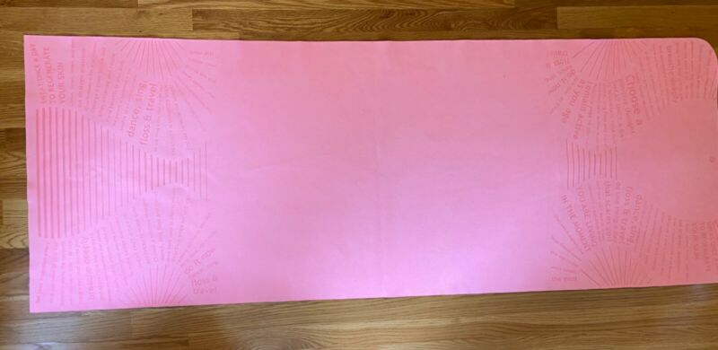 EUC Lululemon travel yoga mat pink anti slip