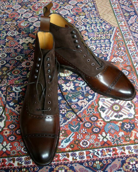 Handmade Cap Toe cheville bottes,  hommes deux tons Bottes Hommes, Bottines, bottes pour hommes  100% authentique
