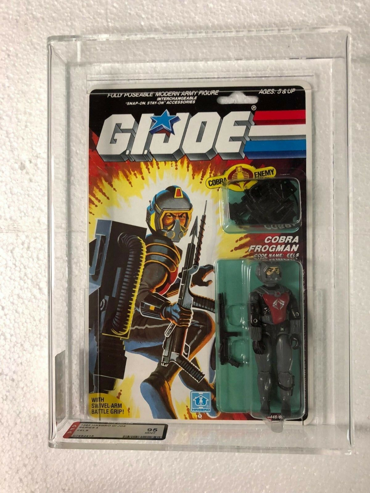 1985 Eels AFA-95  Graded Sealed Complete MOC MIP GI JOE COBRA Eel