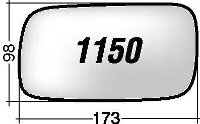 SAAB 900 1150 S RICAMBIO SPECCHIO SINISTRO+BIADESIVO+SPECCHIETTO AZZURATO