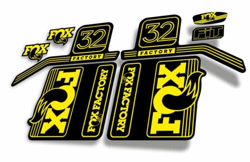 FOX 32 Float 2017 Forks Suspension Factory Decals Stickers Adhesive Yellow