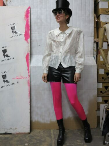 White 90s Glitter White Vintage 90's Damesblouse Blouse Blouse Stripe Silky True 1qw5p85n