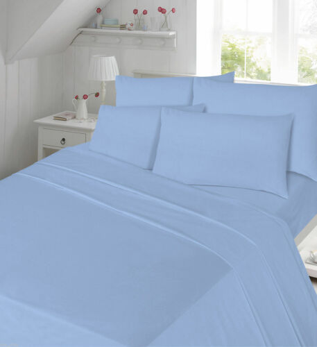 Percale Duvet Cover Set T-180 Pillowcases Double Single Super King Plain New