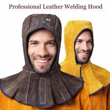 Welding Hood Split Cowhide Leather Welder Hat Cotton Mesh Lining Antiflame Ce