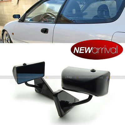 For 06-10 Civic 2DR F1 Manual Adjustable Glossy Black Finish Side View Mirror