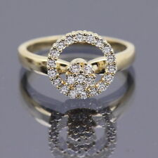 Vintage Normal Teufel Spinner Motion Diamond Ring 14K Yellow Gold 1980 size 5.5