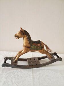 Antique Wooden Toy Rocking Horse