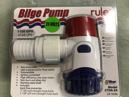 BILGE PUMP RULE 27DA-24 VOLT 1100GPH BOATINGMALL STORE  BOAT PARTS PUMPS