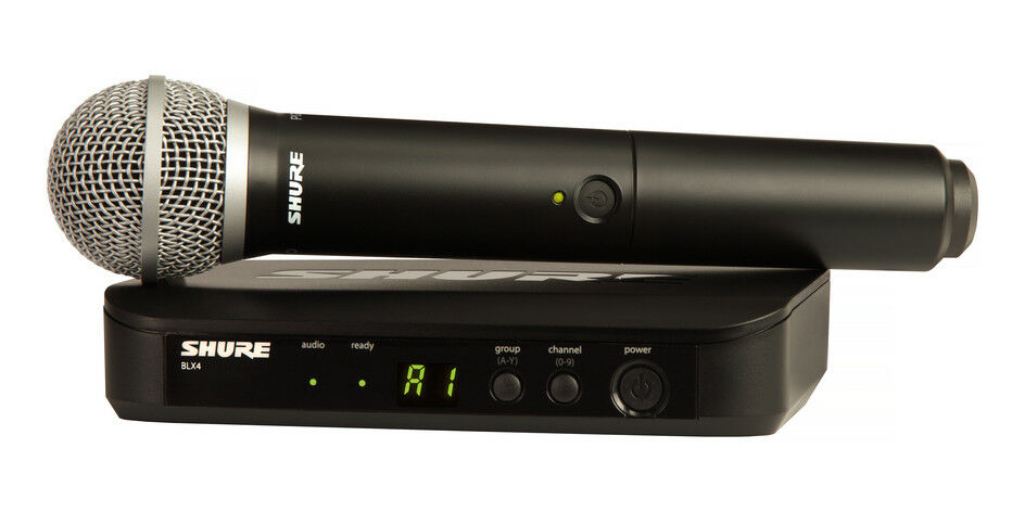 Shure BLX24 PG58 Handheld Microphone Wireless System - H9 Frequency