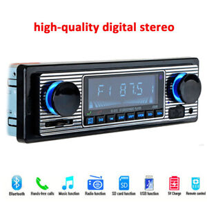 Car-Digital-FM-stereo-radio-Bluetooth-MP3-Player-Aux-USB-S-WMA-MP3-WAV-4-channel