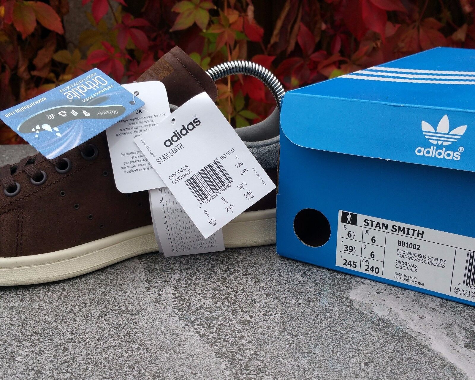 BNWB & Authentic Adidas Originals Stan UK Smith Winter ® Trainers UK Stan Size 6 cfc942