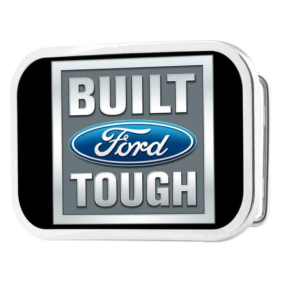 Belt Buckle Licensed Full Color Gloss Ford Built Tough BFTB