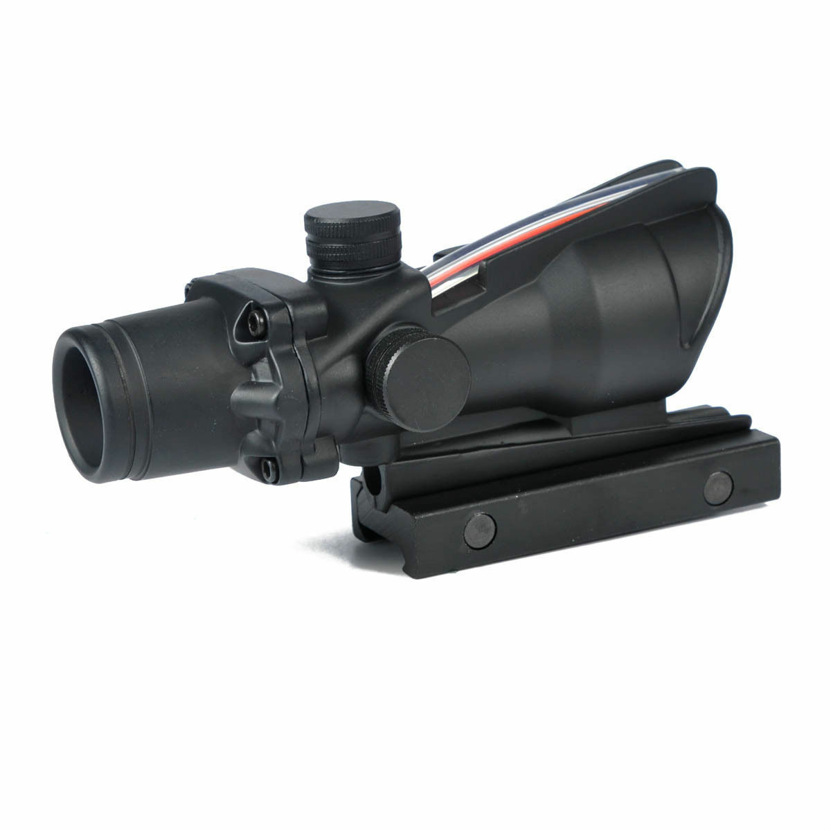 Military Hunting ACOG Style 1x32 Red Dot Sight Scope with Optic Fiber