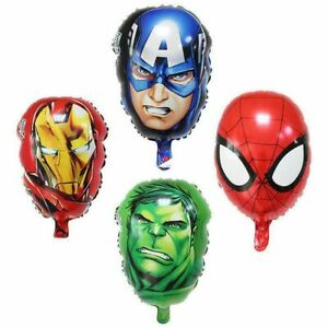 Avengers-Hulk-Spiderman-IRON-MAN-CAPITAN-AMERICA-SUPEREROE-Palloncini-Festa-Decor