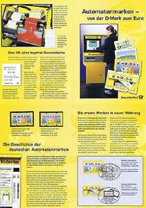 Automatenmarken-erinnerungsblatt Mit Nr 4+5 Gest Postfrische 1701 Brd 2002