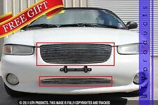 GTG, 1996 - 2000 CHRYSLER SEBRING 2pc CHROME UPPER & BUMPER BILLET GRILLE KIT