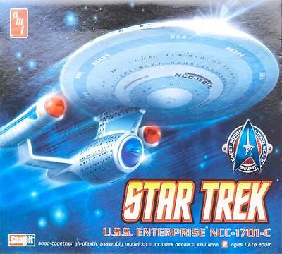 AMT 1/2500 Star Trek Enterprise 1701-C Model Kit Snap Kit #661