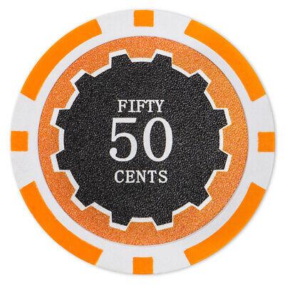 50 Eclipse 14g Brown 25¢ Twenty Five Cents Poker Chips Buy 2 Get 2 Free NEW