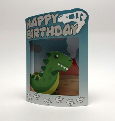 Pop Up 3D Grußkarte Geburtstag Kinder Dino 17x14cm