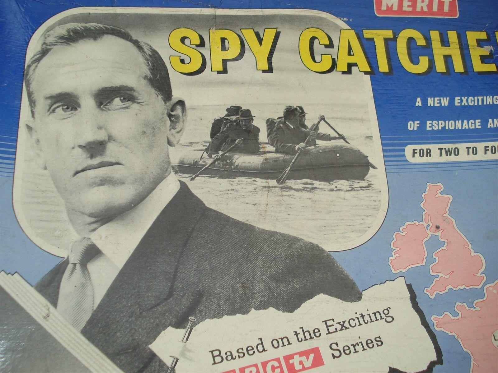 SPY CATCHER GAME - MERIT - 100% - VERY GOOD ORDER - SPYCATCHER - 1950'S ERA