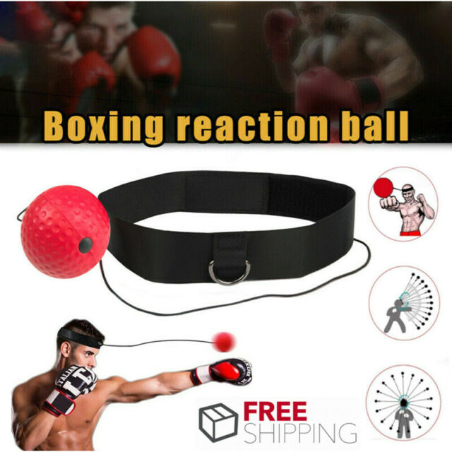 Boxing Training Ball MN Punch Exercise Fight Reflex Speed Head Band Speedball UK