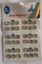36PC SMALL SNAP BUTTONS FASTENERS PRESS STUD SEWING RIVET CRAFT FABRIC CLOTHING