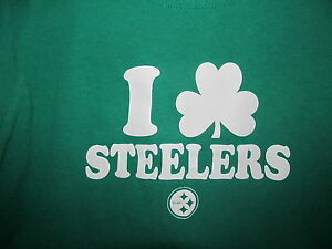 Pittsburgh Steelers T Shirt Size S Love Steelers St Patrick s Day ... ab6ce1a38