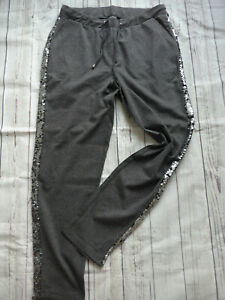 Pants-Ladies-Jogging-Trousers-Laura-Kent-Cloth-Size-Grey-167-Elastic-Band