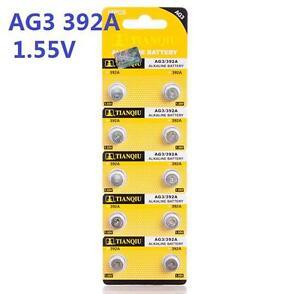 10X Batteries AG3 L736 LR41 392A SR41 Coin Button Cell Battery Watch camera