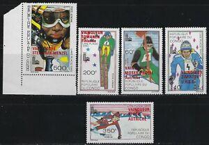 KStamps Lot C357 Congo # 266-70  red overprint  Mint