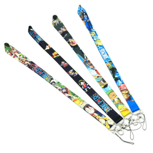 Anime ONE PIECE  Neck Lanyard Strap Mobile Phone ID Card Key chain Anime  1pcs